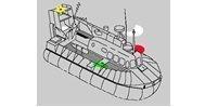 Hava yastıklı hooverkraft teknelerde seyir fenerleri