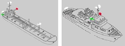 Motorla seyreden teknedekis seyir fenerleri